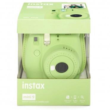 Fuji Instax Mini 9 Verde Lima con funda y película